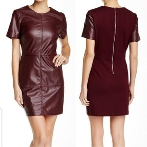 1. State Faux Leather Shift Dress